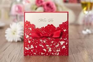 Elegant pearl wedding invitation red elegant handmade for Blank chinese wedding invitations