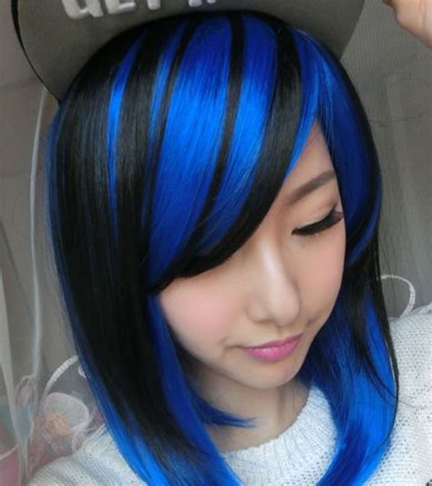 2018 Blue Hair Color Hairstyles For Pretty Women