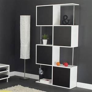 Etagre Design 8 Niches En Bois L90xP28xH164cm Blanc