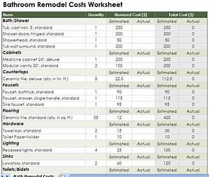 bathroom renovations cost general contractor home With bathroom remodel cost breakdown