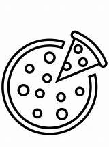Pizza Coloring Fun Food sketch template