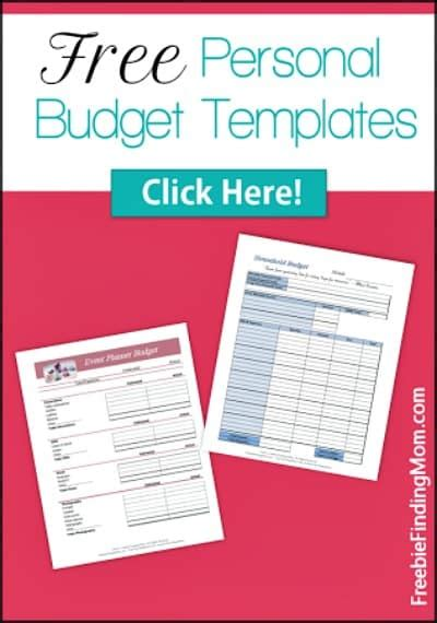 free personal budget template 29 free home organization printables