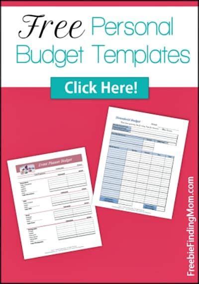 free printable personal budget template 29 free home organization printables