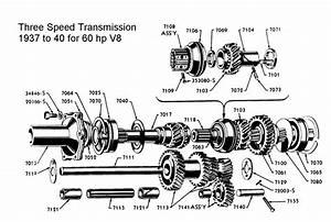 flathead parts drawings transmissions With starting circuit diagram for the 1940 48 oldsmobile automatic transmission