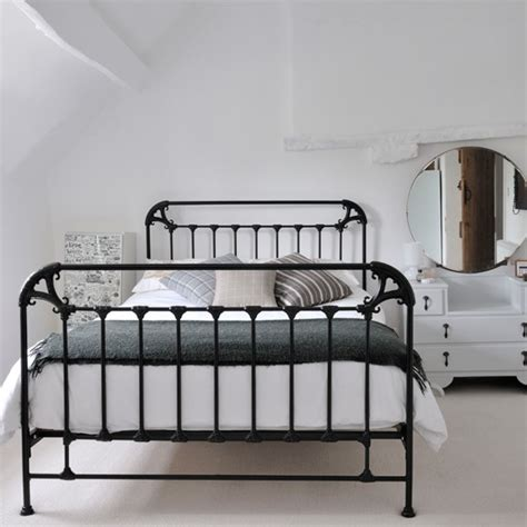 wrought iron bed decorating ideas white country bedroom with black iron bed housetohome co uk