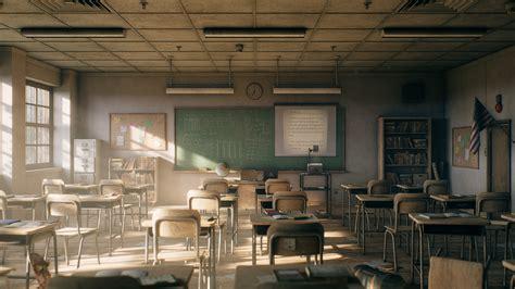 ArtStation - Old Classroom, Lucian Stroiny