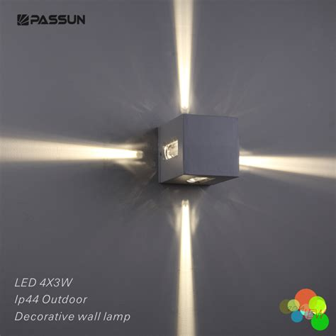 modern outdoor led decorative wall light 12w aluminium