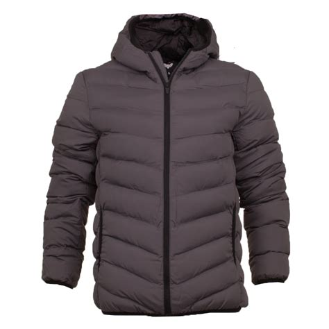 plain hooded coat mens coat hooded quilted plain padded puffer jacket