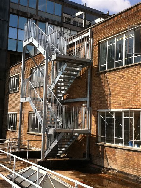 Stainless Steel Balcony Posts by Fire Escape Staircases Morris Fabrications Ltd