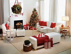Todo en blanco y rojo para navidad Decoración de