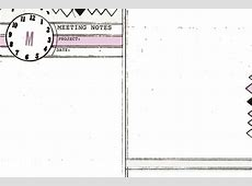 4x6 monthly & weekly diy planner templates + meeting notes