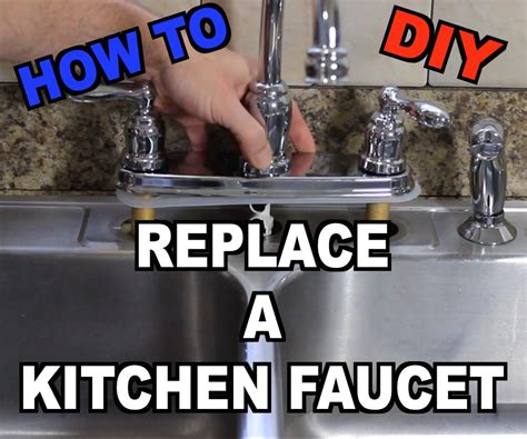 how to change the kitchen faucet how to replace a kitchen sink faucet
