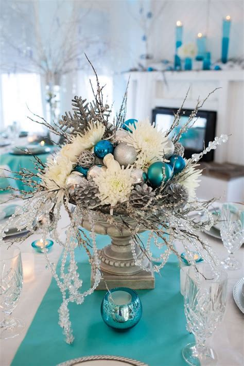 chic blue christmas images  pinterest