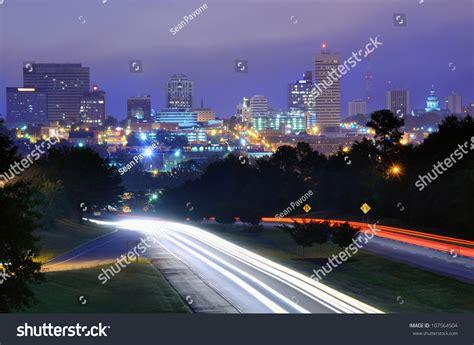 modern lighting columbia sc skyline downtown columbia south carolina above stock photo