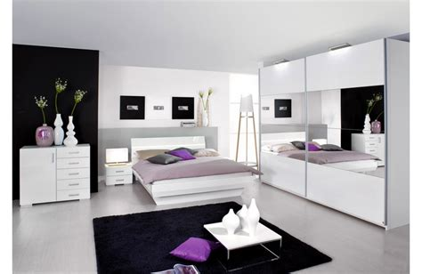 chambre a coucher mobilier de chambre blanc laqué design