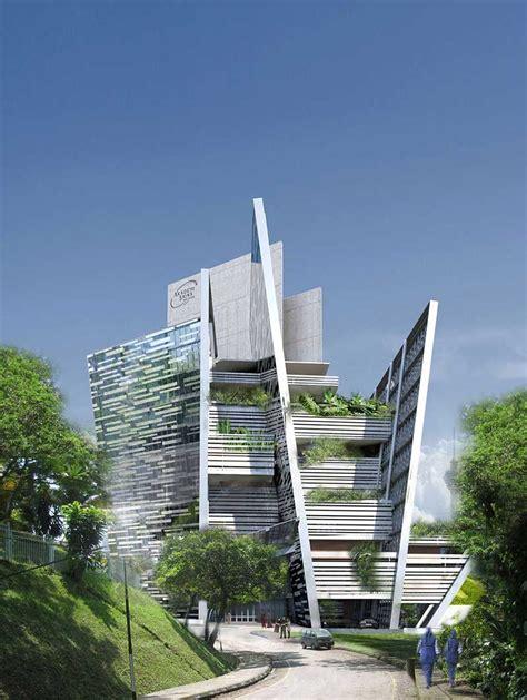 slanted walls futuristic building building materials