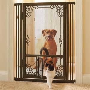 pet gate with cat door gate with cat door interior exterior doors