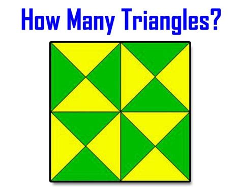 test yourself how many triangles