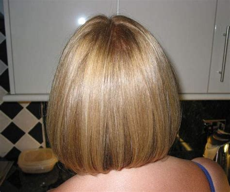 Back View Of Wedge Haircut Image
