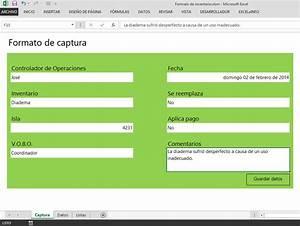 Formulario de captura en Excel que guarda datos en otra hoja EXCELeINFO