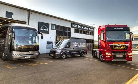 uk midlands facility  man truck bus logistics