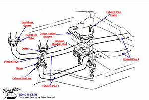 1963 Corvette Front Pipes  U0026 Hardware Parts