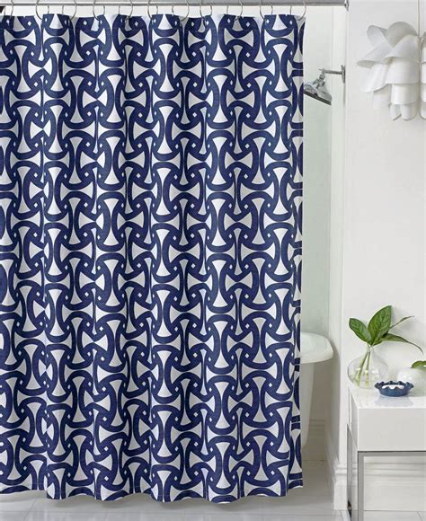navy blue shower curtains   awesome patterned designs