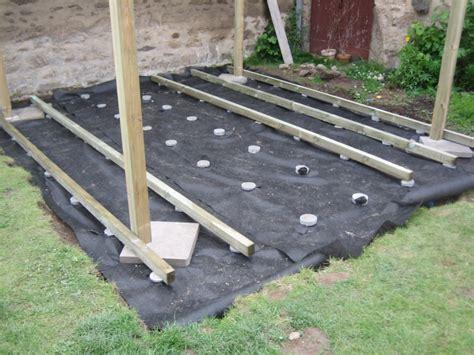 faire une terrasse en bois sur plot mzaol com