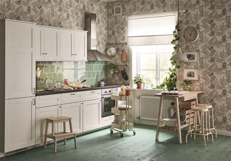 papier peint cuisine cuisine ikea nos modèles de cuisines préférés