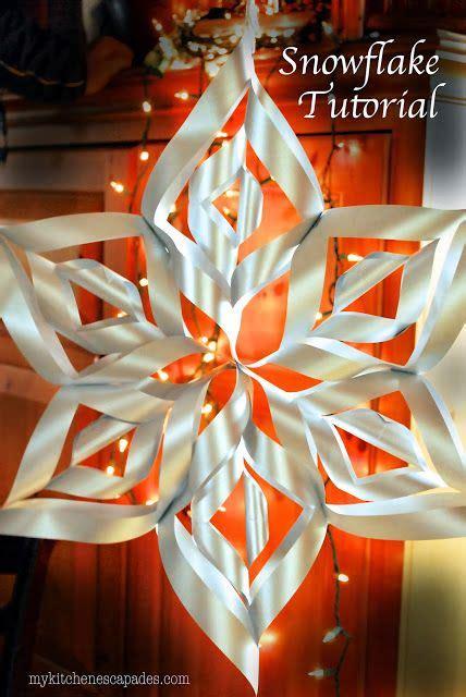 large paper snowflake tutorial winter wedding