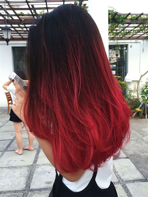 © Jennifer Wizzar Red Ombre Hair Wine Hair Red Ombre