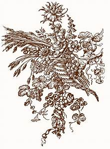 Beautiful French Ornaments - Cornucopia with Flowers - The ...