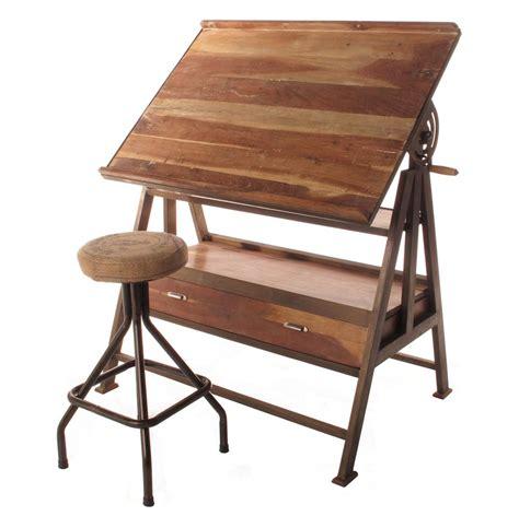 wood and iron desk draftsman 39 s industrial loft wood iron desk table kathy