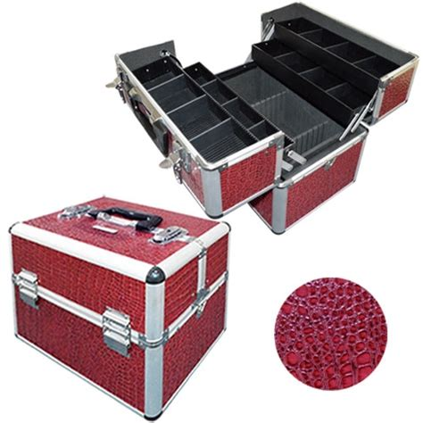 valise maquillage et esth 233 tique compartiment 233 e croco dark