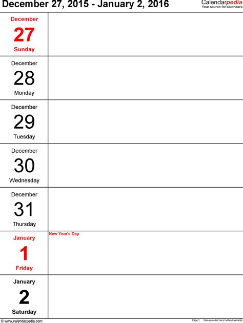 microsoft word diary template weekly calendar 2016 for word 12 free printable templates