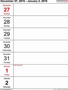 blank week calendar template weekly calendar 2016 template