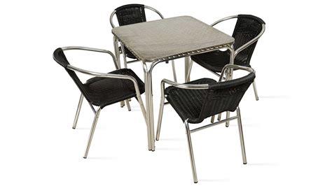Table et chaises de terrasse 4 personnes alu et ru00e9sine Salon de jardin | eBay