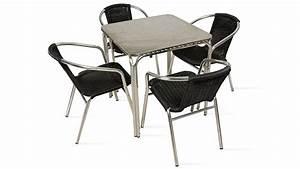 Table De Jardin 4 Personnes : table et chaises de terrasse 4 personnes alu et r sine salon de jardin ebay ~ Teatrodelosmanantiales.com Idées de Décoration