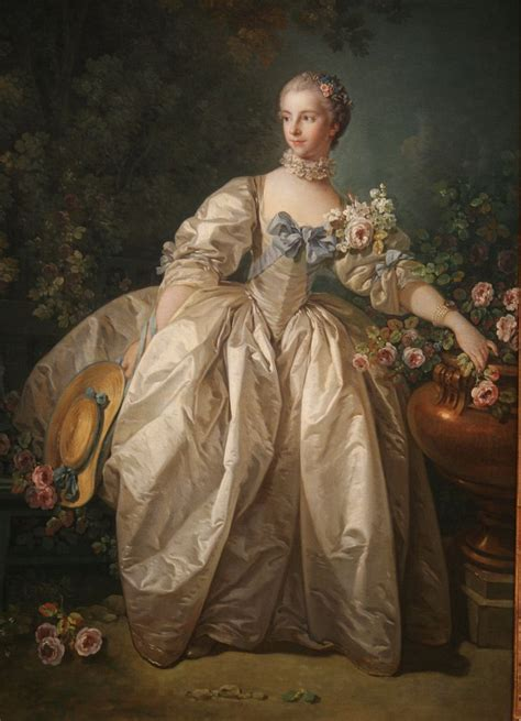 Madame Bergeret Oil On Canvas Possibly 1766 Francois