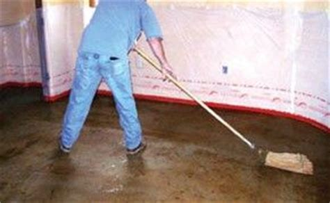 Step 4: Cleaning The Acid Stained Floor. Clean the acid