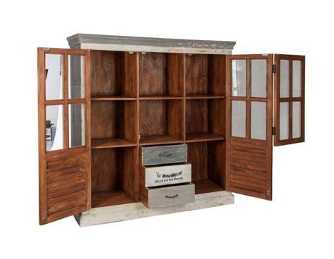 meuble cuisine largeur 30 cm grand meuble bibliothèque bois patiné avec casiers pas chere