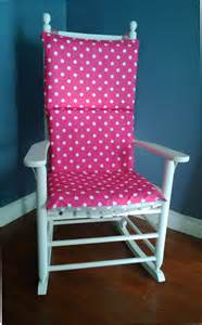 on sale rocking chair cushion cover pink grey polka dot