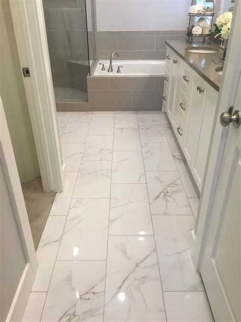 Large Tiles For Bathroom by I Like Shiny Tile The Loo In 2019 Marble Tile