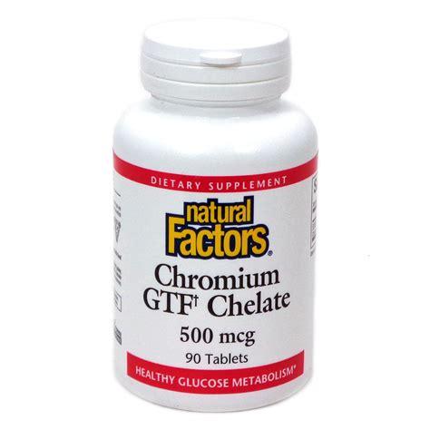 chromium chel mcg  natural factors  tablets