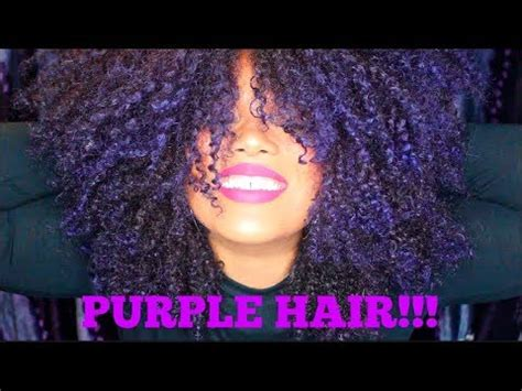 dyed  natural hair purple  bleaching youtube