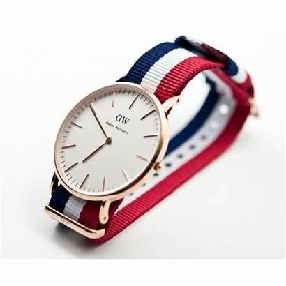 Bracelet Bleu Rouge Montre Et Nato Blanc