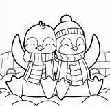 Penguin Coloring Pages Cartoon Printable Hard Getcolorings Getdrawings sketch template