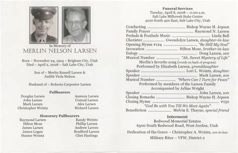 free obituary program template 6 free funeral program templates excel pdf formats