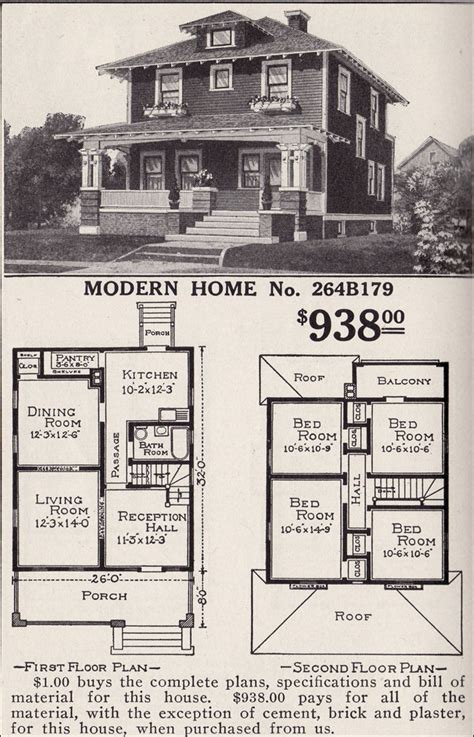 American Foursquare Floor Plans Modern by Artistic Foursquare Sears Modern Home No 264b179