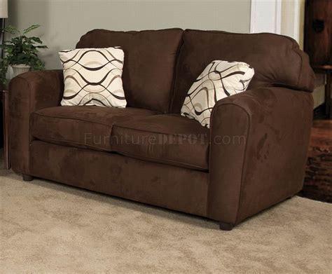 Sierra Chocolate Fabric Modern Loveseat Sofa Set Woptions